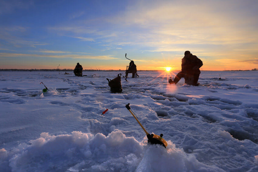 Fishermen on the ice