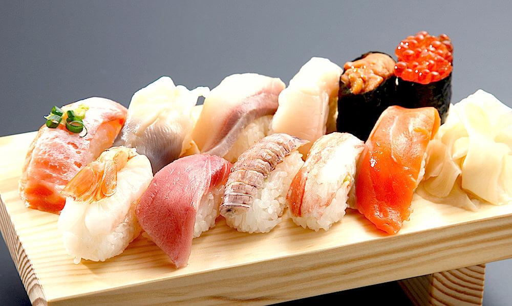 朝からお寿司! という贅沢